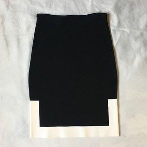 Alexander Wang Black White Trim Skirt